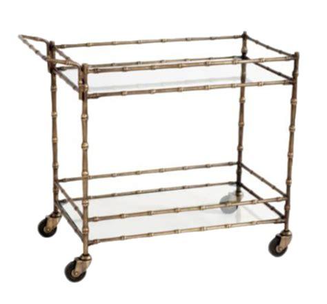 ballard designs bar cart brass bar cart