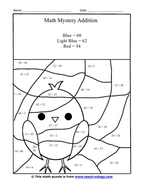 Printable Hidden Picture Math | all worksheets 187 hidden pictures worksheets free