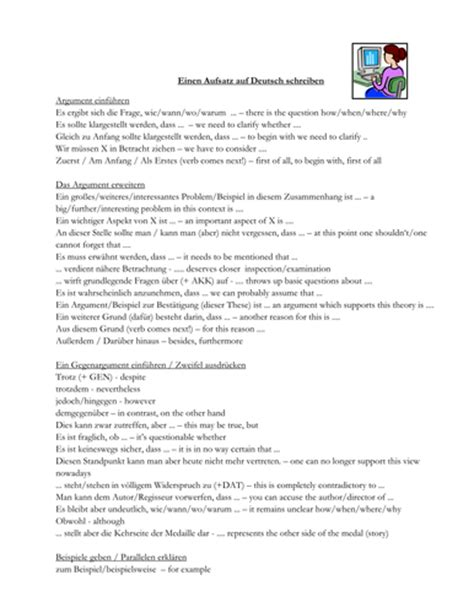 Translation Essay by German Essay Phrases With Translations By Tinkywinks Uk Teaching Resources Tes