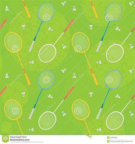 pattern more than badminton meaning badminton green seamless vector pattern stock vector