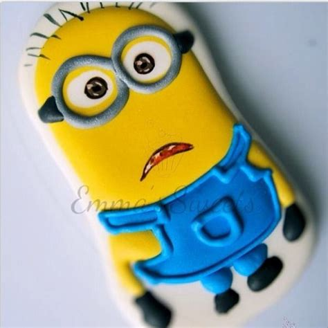 minion cookies minion cookie by s cookies cupcakes
