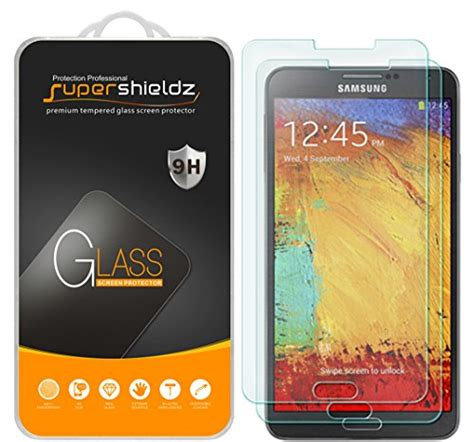 Samsung Note 2 Tempered Glass Screen Protector Anti Gores Kaca 2 pack supershieldz for samsung galaxy note 3 tempered