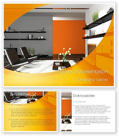 Home Interior Design Powerpoint Template Backgrounds 10472 Poweredtemplate Com Interior Design Presentation Templates