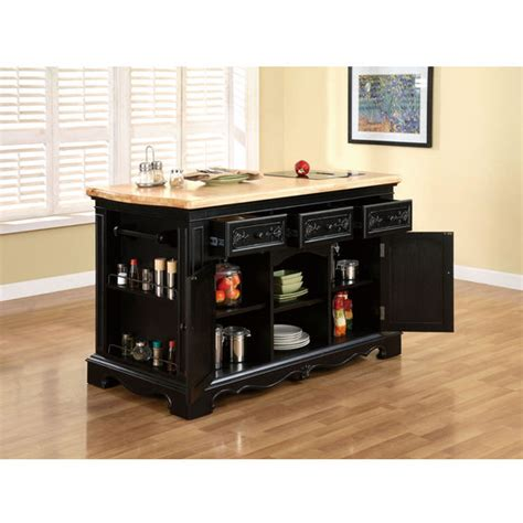 powell pennfield butcher block kitchen island