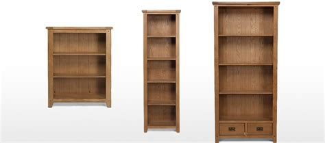 rustic oak slim bookcase quercus living