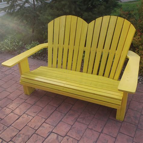 yellow outdoor furniture image gallery outdoor benches