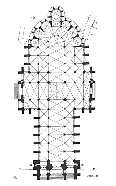Amiens Cathedral -- Floor Plan | Source -- wikimedia