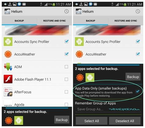 how to backup apps and data without root using helium android app the android soul - Backup Apk And Data Without Root