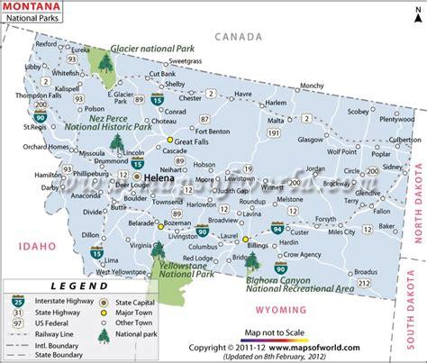 montana national parks map montana national parks western us trip