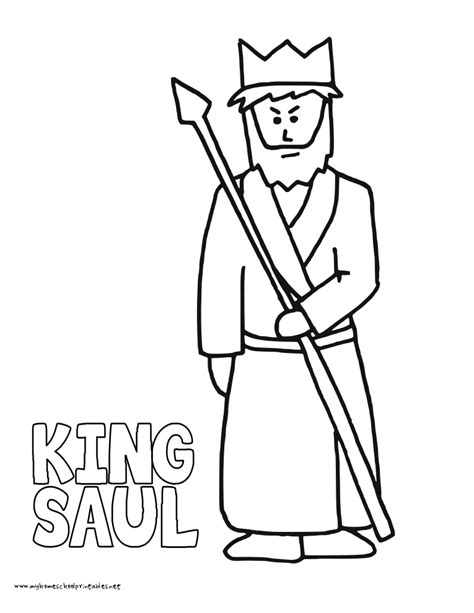 coloring page saul becomes king king saul free coloring pages