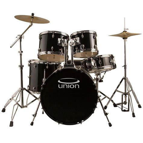Drum Set union u5 5 jazz rock blues drum set with hardware cymbals and throne black and more