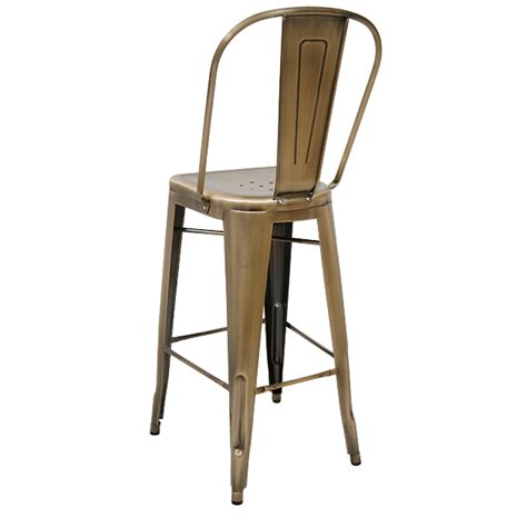 Bistro Style Bar Stools by Bistro Style Metal Bar Stool In Brass Finish