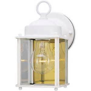 walmart outdoor lighting westinghouse lighting 6697100 white outdoor light fixture