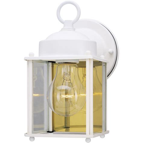 Westinghouse Lighting 6697100 White Outdoor Light Fixture Walmart Outdoor Lighting Fixtures