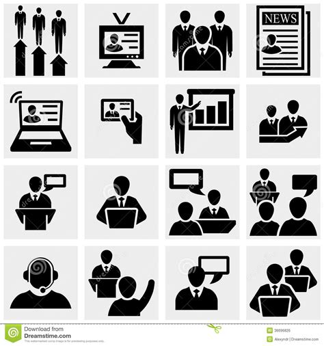 Office And Business Vector Icons Set On Gray Royalty Free Stock Images Image 33973149 Businessman Vector Icons Set On Gray Stock Vector Illustration Of Teamwork Profit 36696826