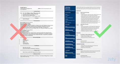 Assistant Manager Resume by Assistant Manager Resume Sle Complete Guide 20