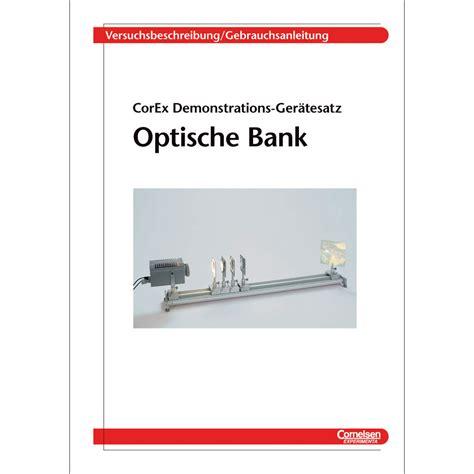 optische bank ger 228 tesatz grundausstattung optische bank w 70817