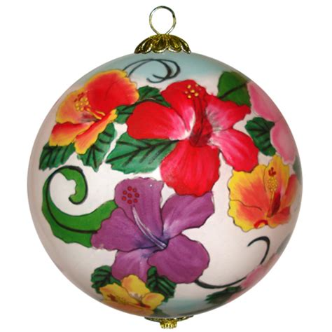 hawaiian hibiscus christmas ornament maui by design