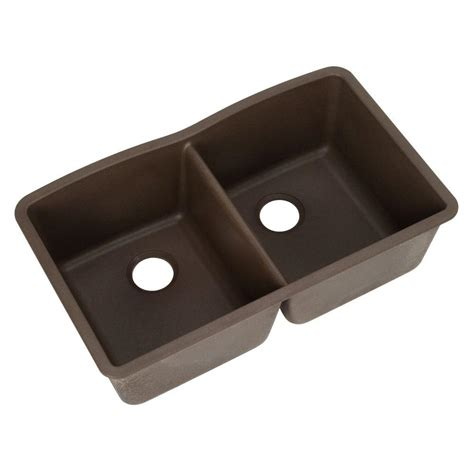 Composite Undermount Kitchen Sinks Blanco Undermount Composite 32 In Basin Kitchen Sink In Metallic Gray 440183