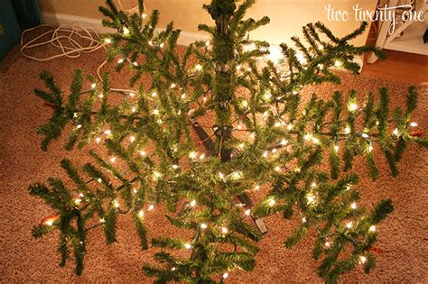how to put up achristmas tree without a stand how to put lights on a tree two twenty one