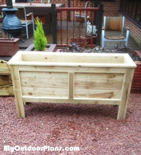 Diy Garden Planter Box by 25 Best Ideas About Planter Box Plans On Diy