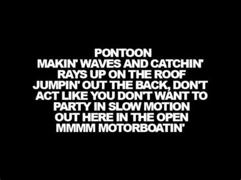 pontoon lyrics lyrics little big town pontoon youtube