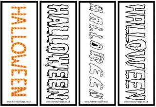 printable bookmarks activity village halloween printables