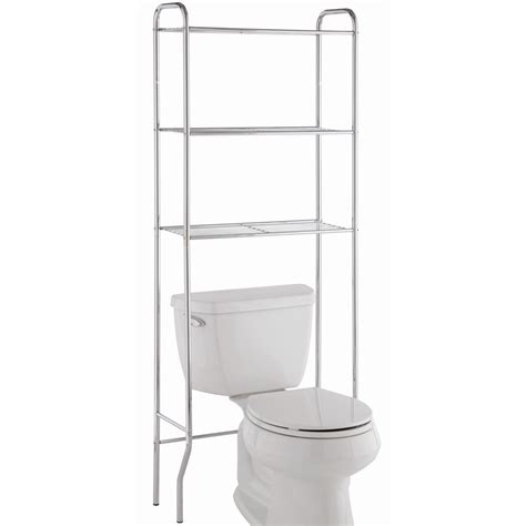 toilet storage rack in the toilet shelving