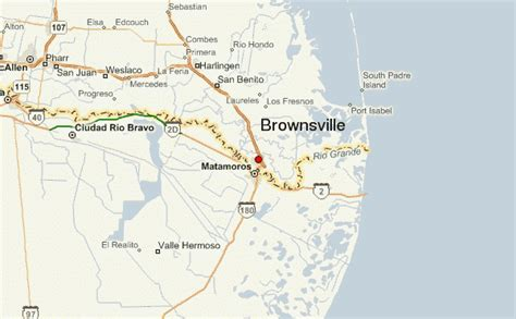 map of brownsville texas brownsville location guide