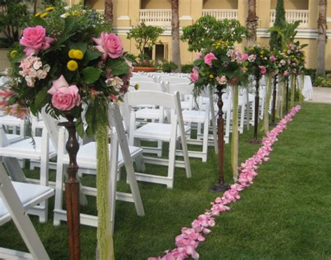 Wedding Aisle Arrangements by Garden Wedding Ritz Carlton Sarasota Flowers By Fudgie