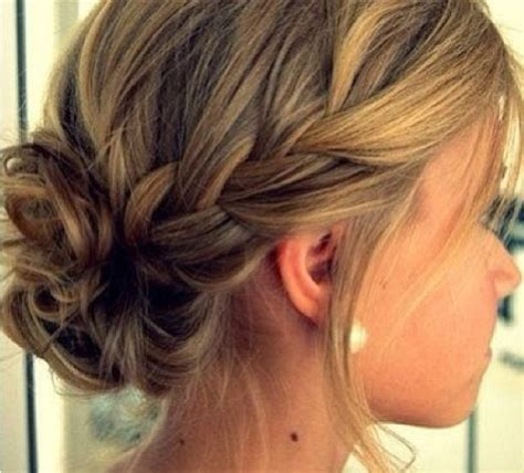 Simple Bridesmaid Hairstyles For Hair by Simple Updo Braid Bridesmaid Hair Events Weddings