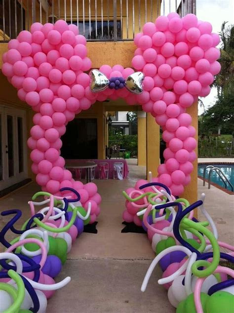 Minnie Mouse Balloon Decoration by Minnie Mouse Balloon Arch Birthday Ideas