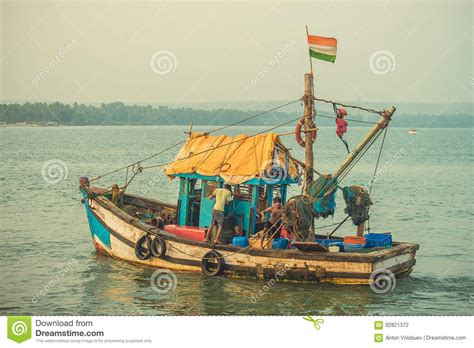 fishing boat price in india india goa february 2 2017 a fishing boat with an