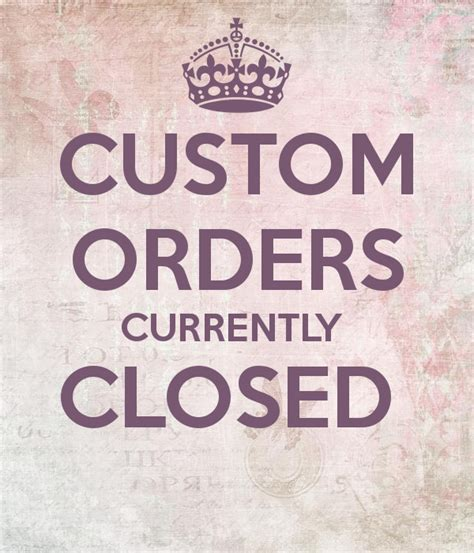 Handmade To Order - custom orders currently closed poster andrea keep calm
