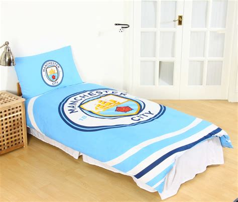 man city bedroom manchester city fc pulse single duvet cover set