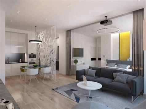ambienti casa interni piccoli spazi la parete di vetro per dividere gli