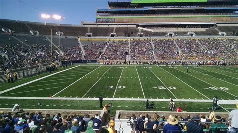 15 Usc Section 1 by Notre Dame Stadium Section 12 Rateyourseats