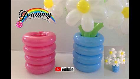floreros baby shower florero o base con globos para nuestros ramos youtube