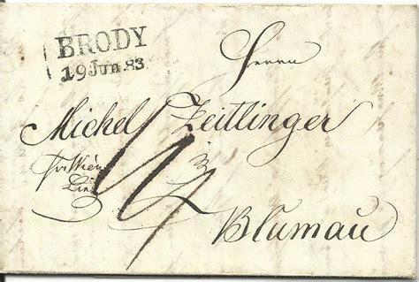 Porto Brief Schweiz Nach Sterreich 214 sterreich 1833 l2 brody klar auf porto brief via wien u