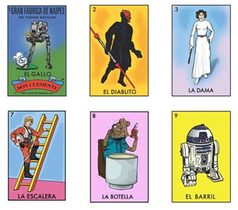 space loteria star wars mexican bingo by chepo pena is