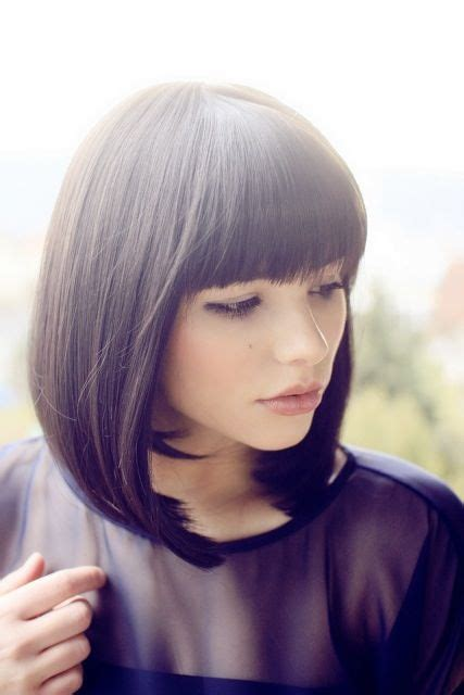 classic sleek lob hairstyle 50 best images about bangs αφέλιες on