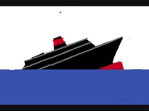 sinking ship animation sinking ship youtube