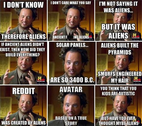 Giorgio Ancient Aliens Meme - ancient aliens guy slowly abducted www imgkid com the