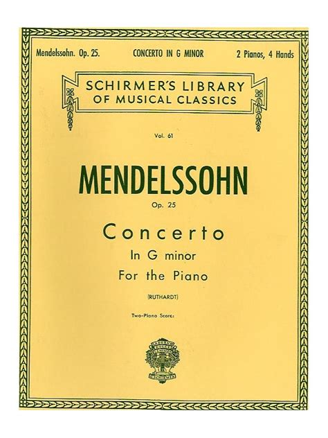 0014117541 piano concerto no g minor sheet music felix mendelssohn piano concerto no 1 in g