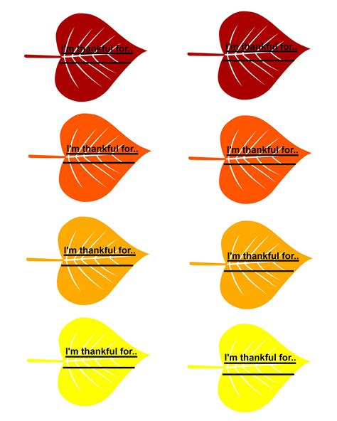 printable turkey leaves family thankful tree with free printable leaves
