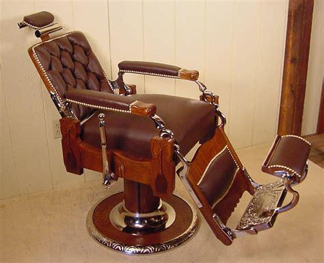 Koken Barber Chair by Koken Oak Barber Chair