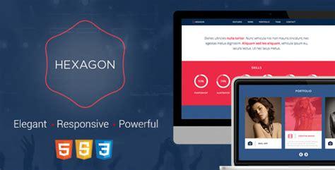 Hexagon Responsive Html5 Template By Yosoftware Themeforest Hexagon Website Template