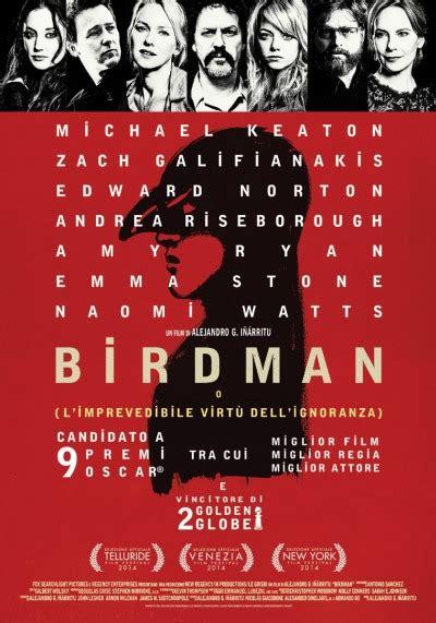 film il dono dell imprevedibile birdman o l imprevedibile virt 249 dell ignoranza film