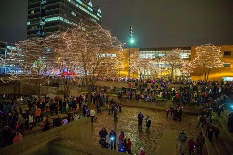 It S To Light The Lights In Downtown Omaha Go