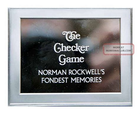 7 Of My Fondest Memories by The Checker Proof 3 5 Oz Silver Bar Norman